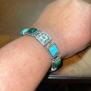 Lucky Brand turquoise green toggle bracelet